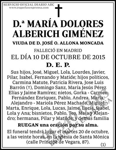 María Dolores Alberich Giménez